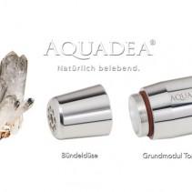 Aquadea Wasserverwirbler ToneOne Silber Bergkristall nach dem Schauberger-Prinzip