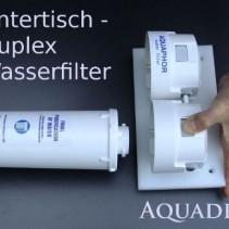 Untertisch Trinkwasserfilter Duplex mit ToneOne silber