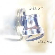 Adapter M22 auf M18 Außengewinde