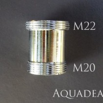 Adapter M22 x M20 Außengewinde Perlstrahlgewinde