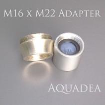 Adapter M16 Innengewinde auf M22 Außen