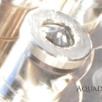 Sondermodell Silber 5 Wirbeldusche mit<br> 5 Bergkristall-Titan-Wirbel-Kammern