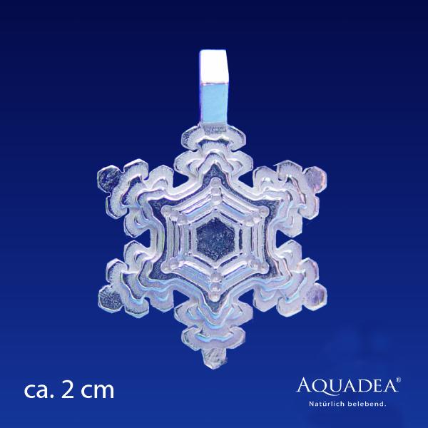 Anhänger schmuck silber wasserkristall schneeflocke