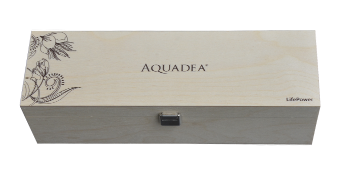 Aquadea Wirbel Dusche Verpackung Holz-Kiste