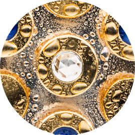Lapislazuli-Gold-Silber Kristall Wirbel Dusche