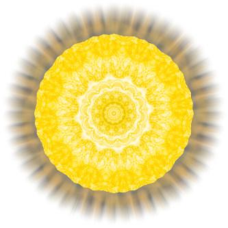 Energie-Bild Gelber Saphir in Aquadea Wirbelkammer